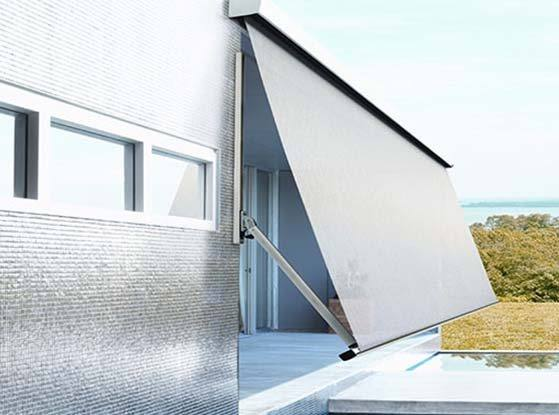 Australian Expertise To Deal With The Harsh Sun COMPACT AWNINGS FOLDING ARM PIVOT